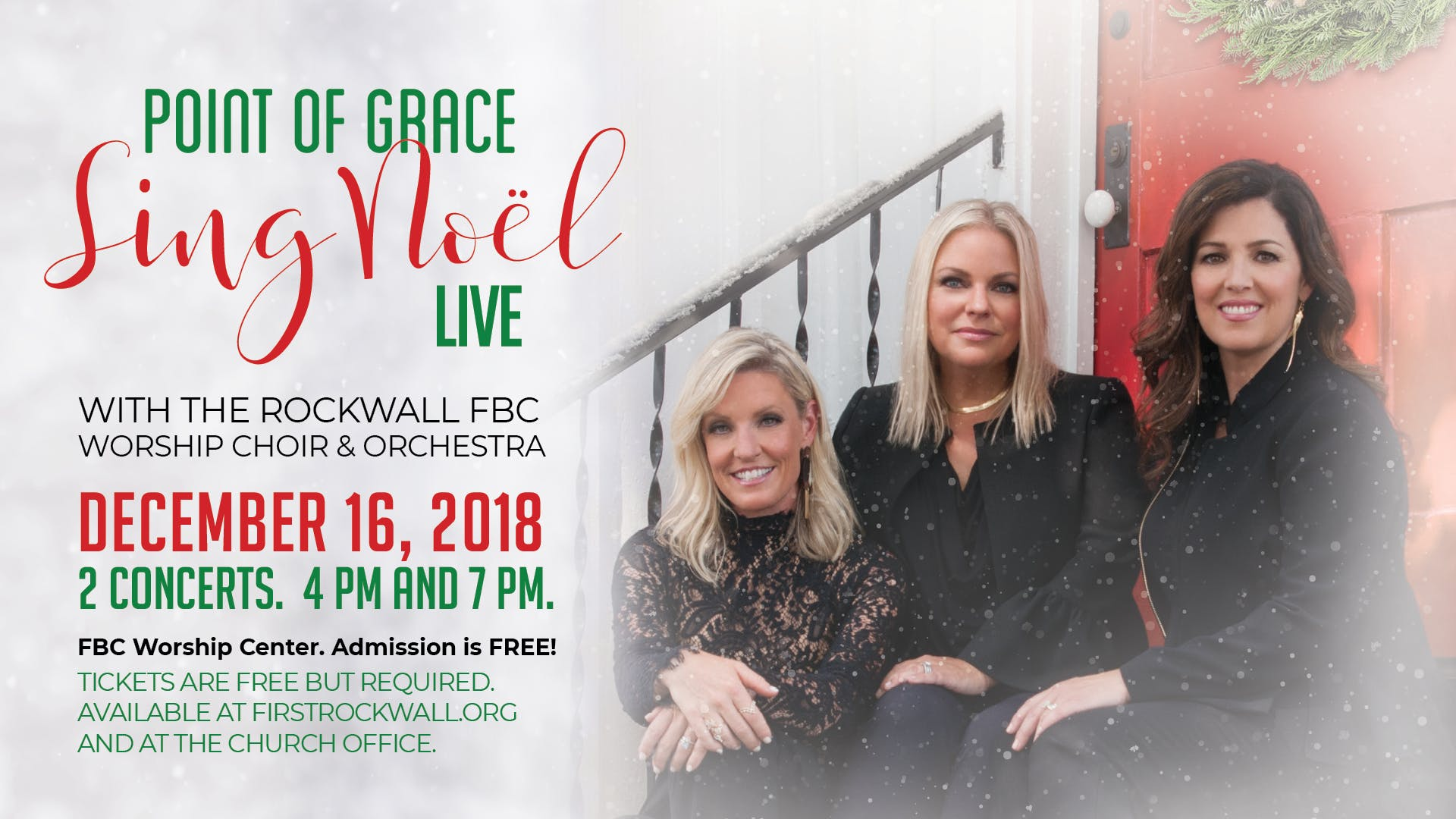 """""""Sing Noel"""" Point of Grace and The Rockwall F"""