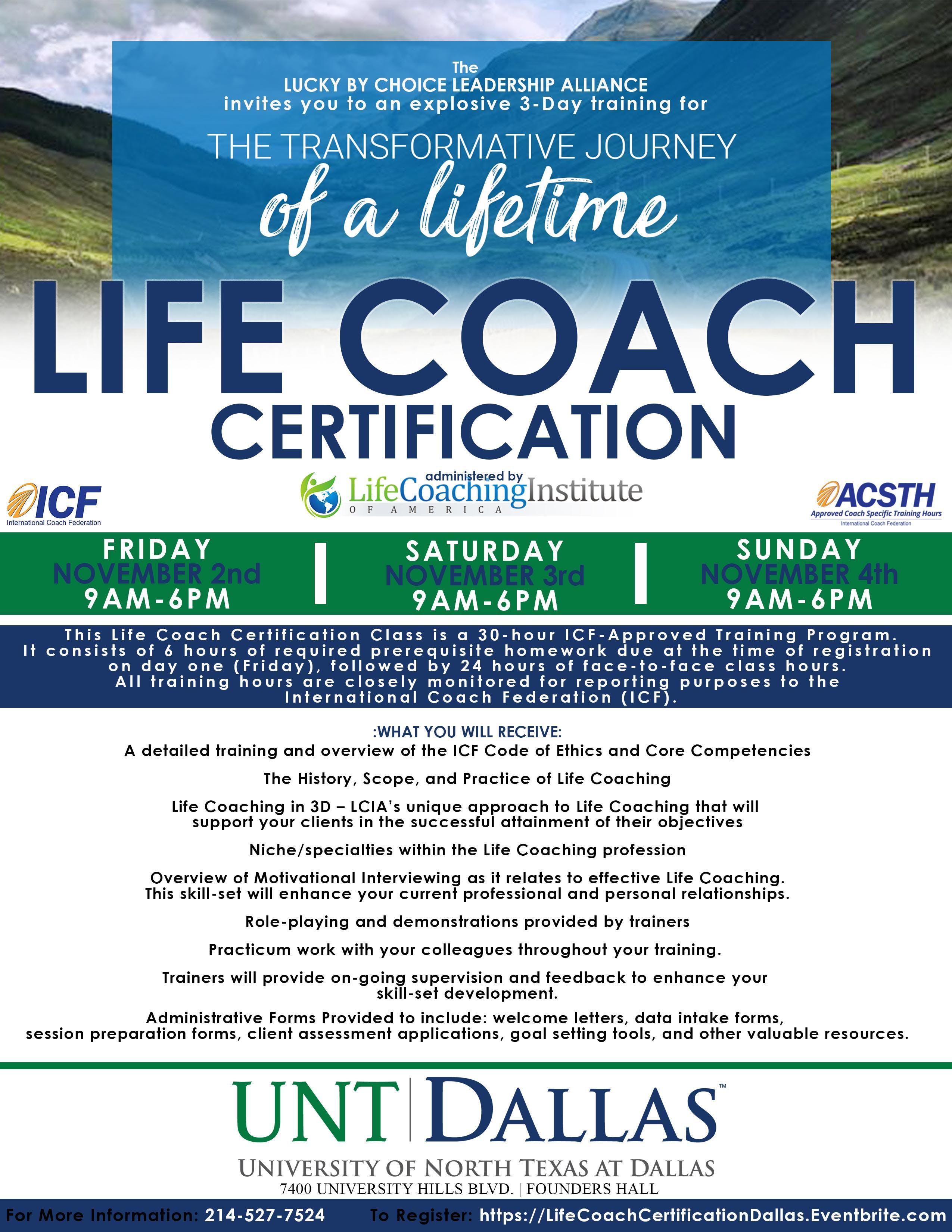 Life Coach Certification At University Of North Texas Dallas Dallas