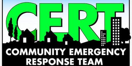 Mountain View Community Emergency Response Team (CERT) Academy 2019-3 tickets