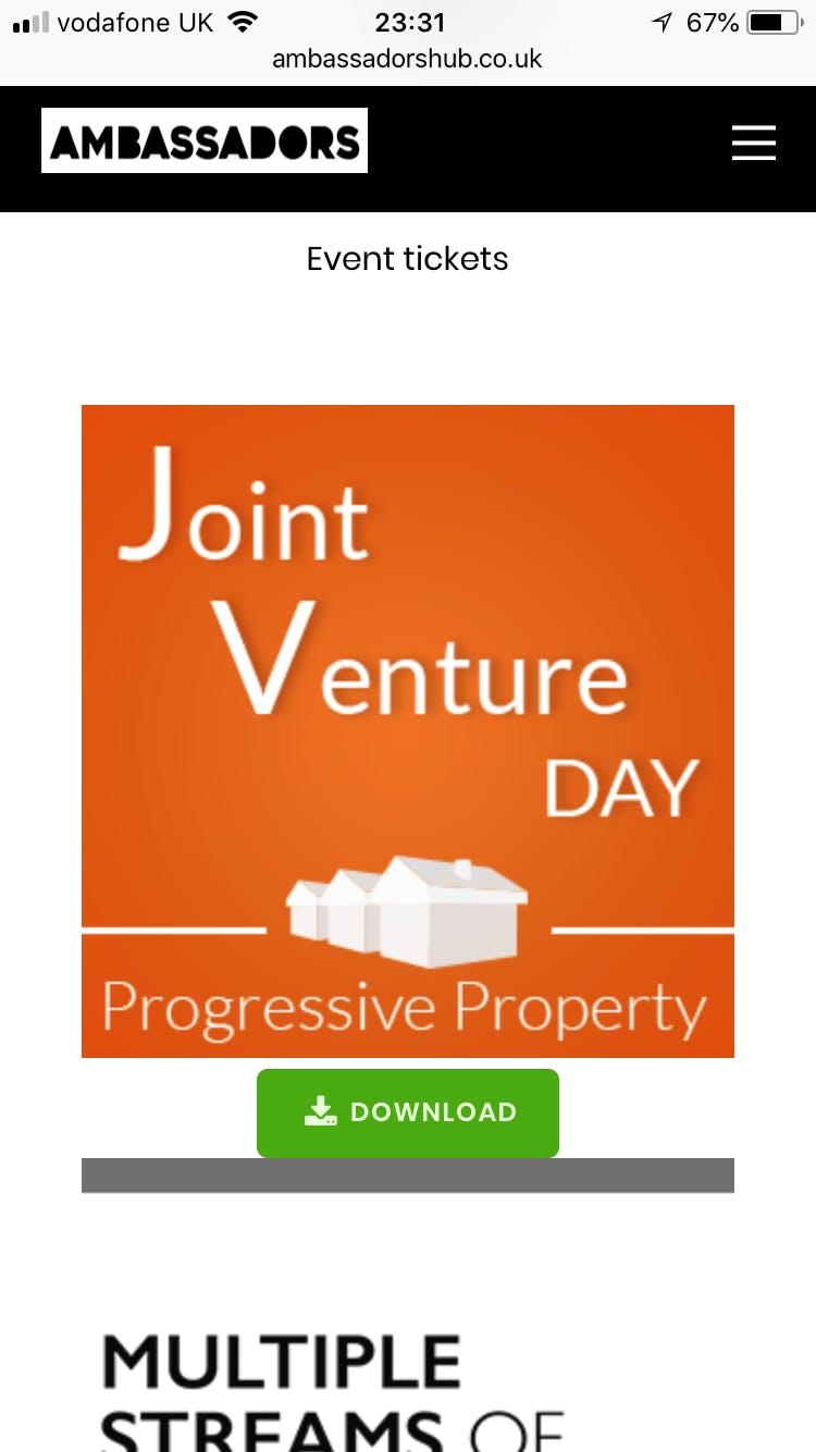 Joint Venture - 2 Day Workshop