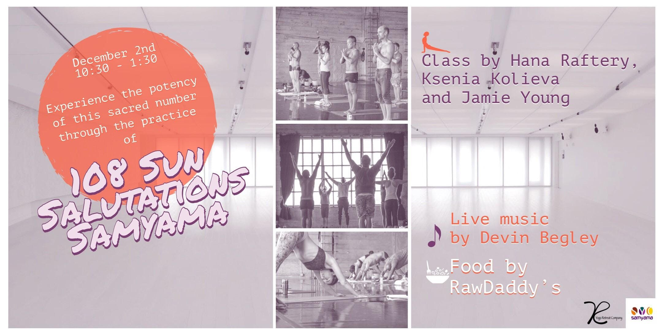 Charity Yoga, Live Music and RawFood Party