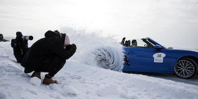 Porsche Fahrertraining & Fotoworkshop auf den gefrorenen Seen Lapplands