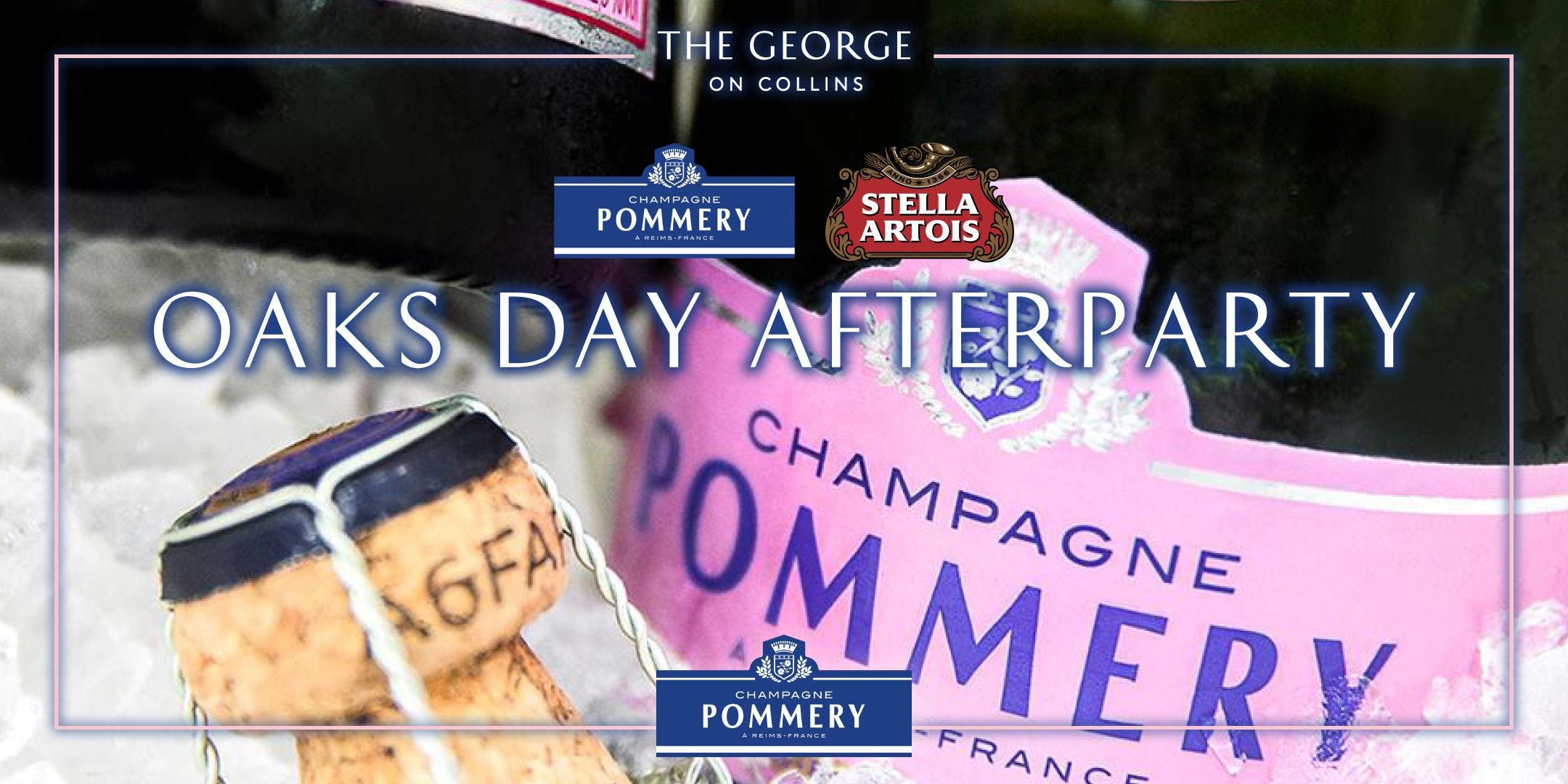 Oaks day transport afterparty with Pommery & Stella