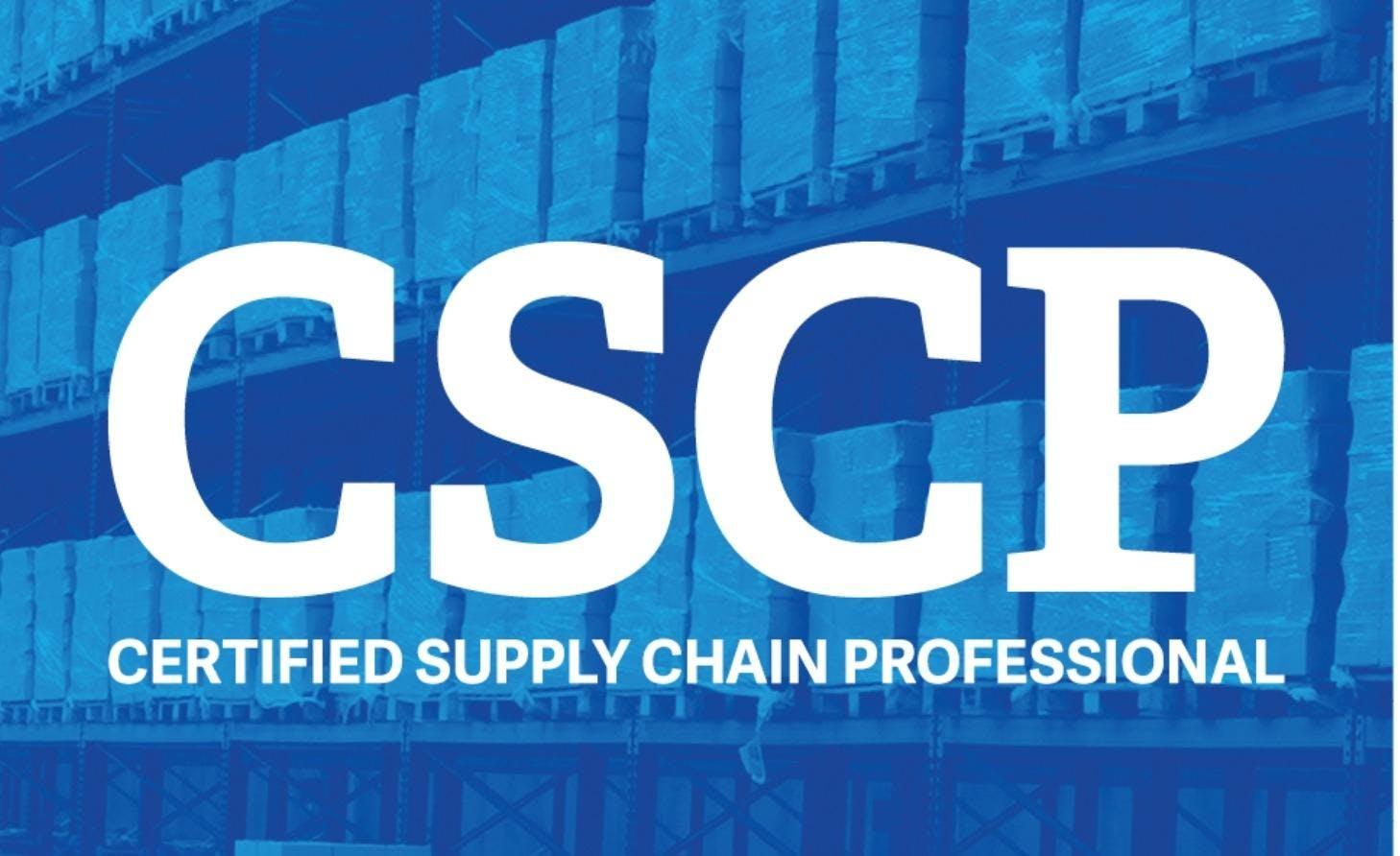 Cscp Certified Supply Chain Professional Training Dubai 9 Nov 2018