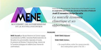 """Université du MENE - \""""La nouvelle économie climatique et ses opportunités\"""""""