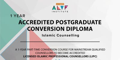 1 year Accredited Post Graduate Conversion Diploma in Islamic Counselling Birmingham