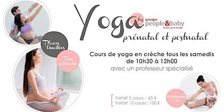 Cours de yoga en crèche - Paris 3 billets