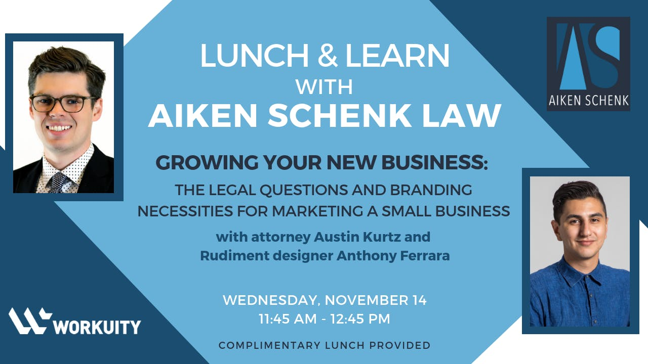 Lunch & Learn with Aiken Schenk Law: Growing your new business