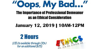 Oops, My Bad! - Ethics Training