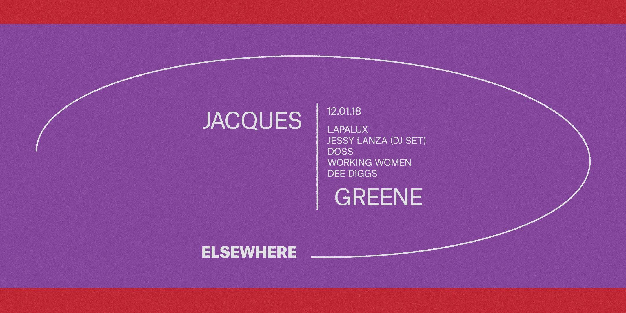 Jacques Greene, Lapalux, Working Women, Jessy Lanza (DJ Set), Doss & Dee Diggs