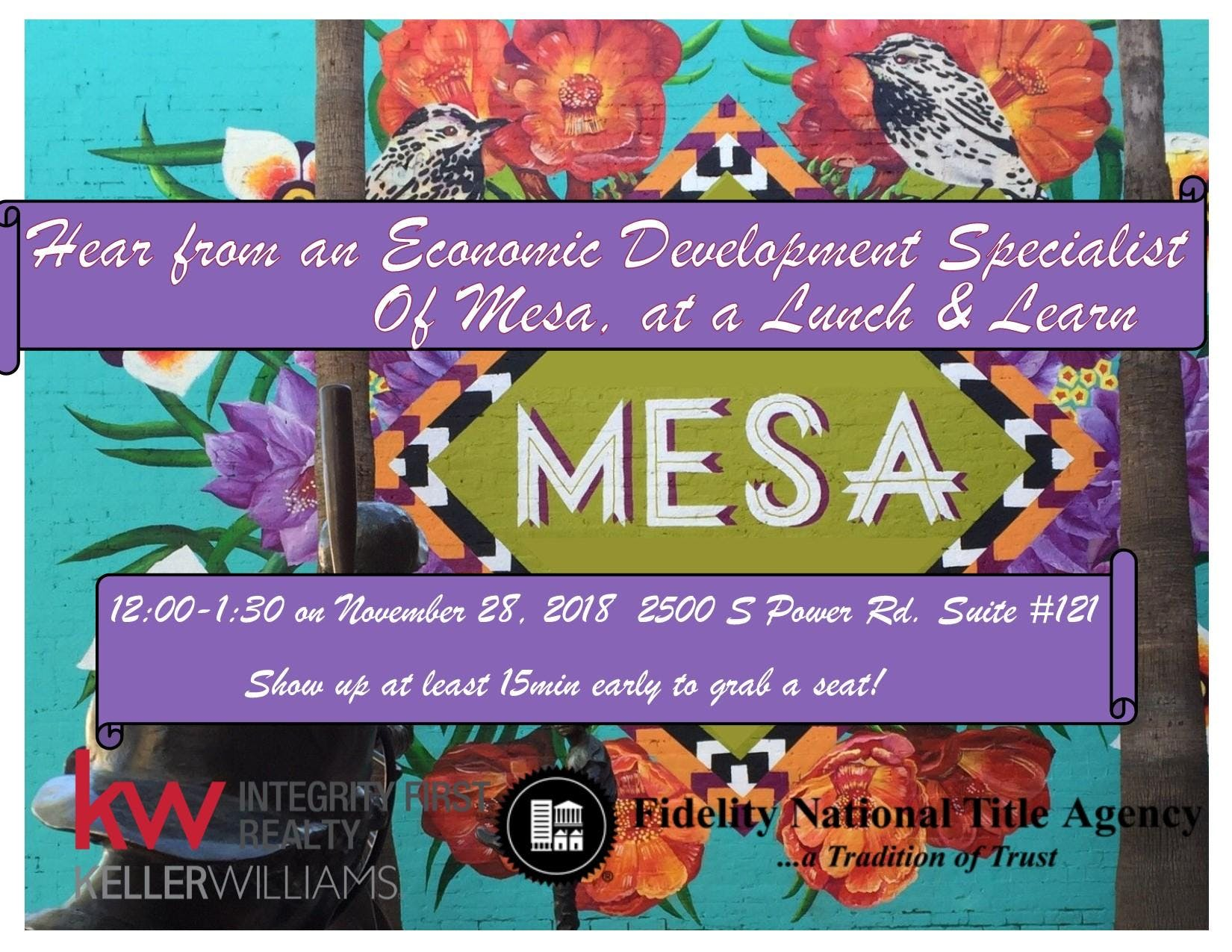 Lunch with the City of Mesa Economic Development Specialist