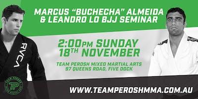 """Marcus \""""Buchecha\"""" Almeida and Leandro Lo BJJ Seminar"""