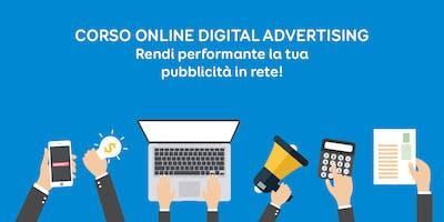 Corso Online di Digital Advertising: pubblicità in rete performante
