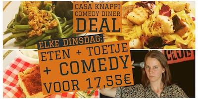 Comedyhuis Club - Casa Knappi Comedy Dinerdeal op dinsdag