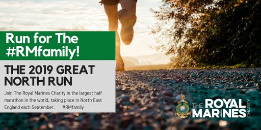 Great North Run 2019 - Secure a charity place with The Royal Marines Charity