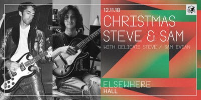 Christmas Steve & Sam (with Delicate Steve / Sam Evian) @ Elsewhere (Hall)