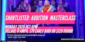 Shortlisted the audition masterclass tickets mon 29102018 at 6 shortlisted the audition masterclass expocarfo Image collections