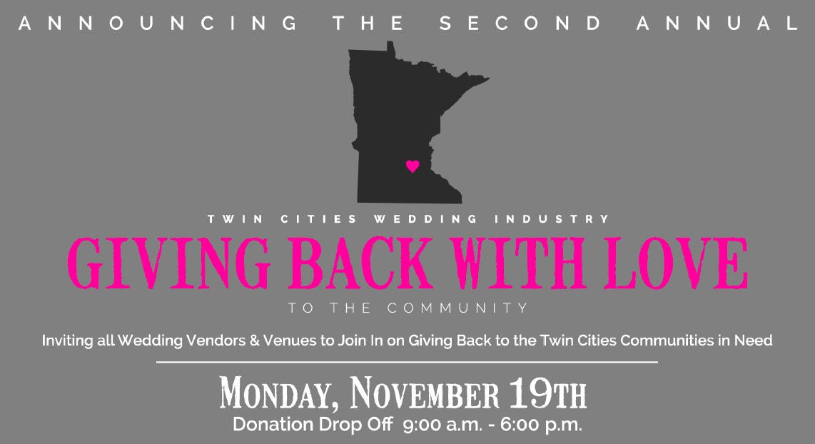 Twin Cities Wedding Industry - Giving Back Wi