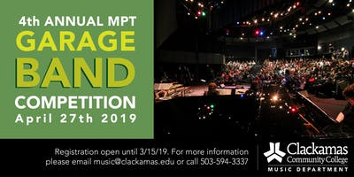 Clackamas Community College Garage Band Competition