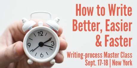 How to Write Better, Easier and Faster in New York tickets
