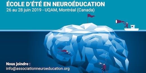 École d'été en neuroéducation 2019 - COMPLET (inscription sur la liste d'attente seulement)