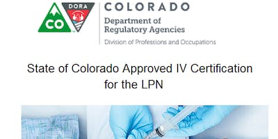Iv And Fluid Therapy Certification State Of Colorado