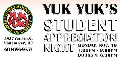 Student Appreciation COMEDY Night for Charity