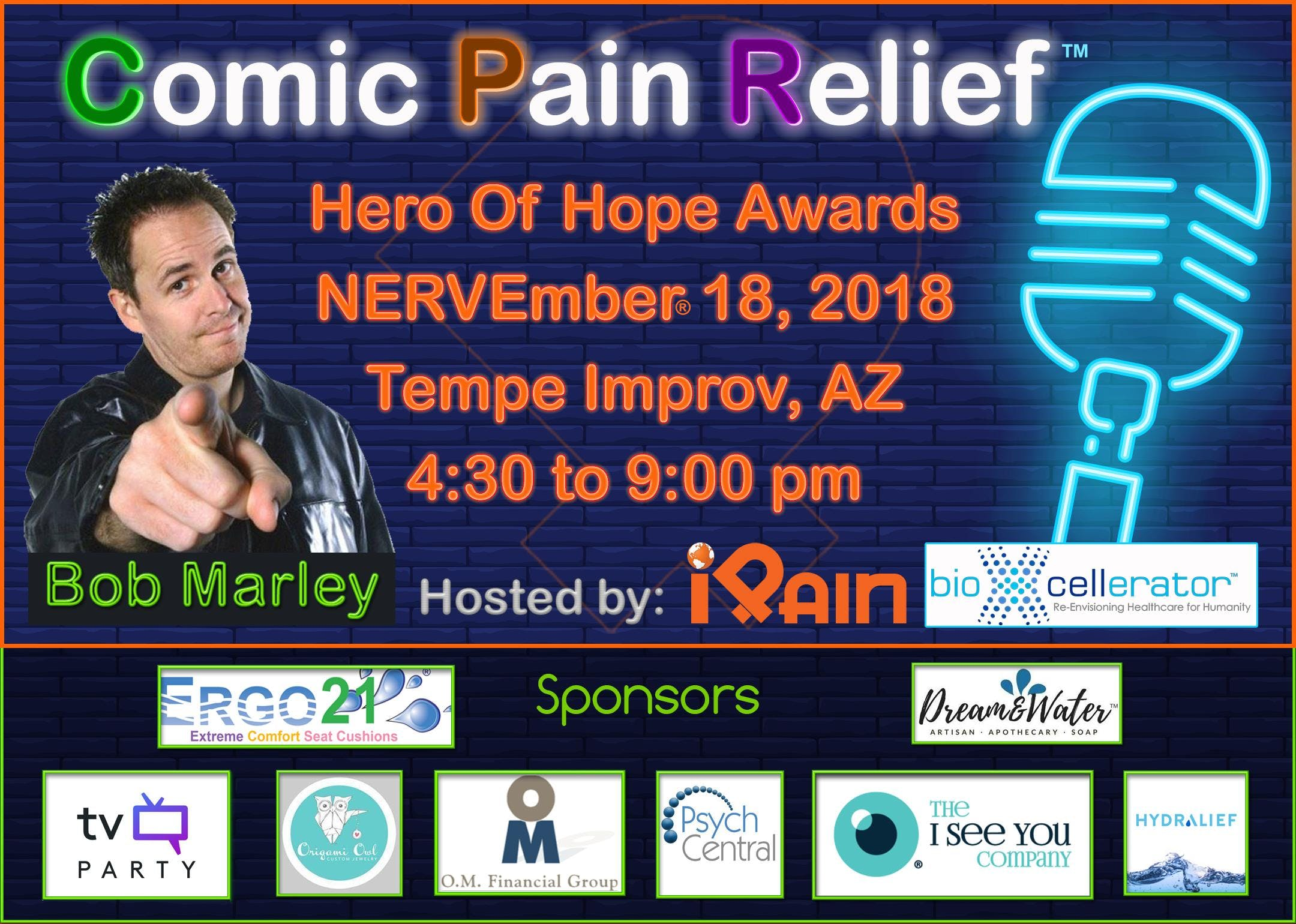 Comic Pain Relief hosted by International Pain Foundation & BioXcellerator