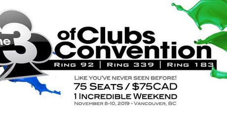 3 of Clubs Convention 2019 - Vancouver tickets