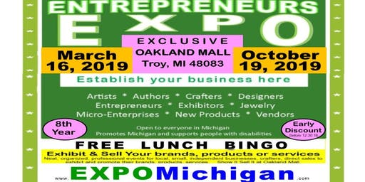 Entrepreneurs EXPO, Oakland Mall,  October 19, 2019, center mall table