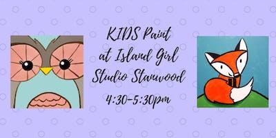 Kids Paint at Creative Studio