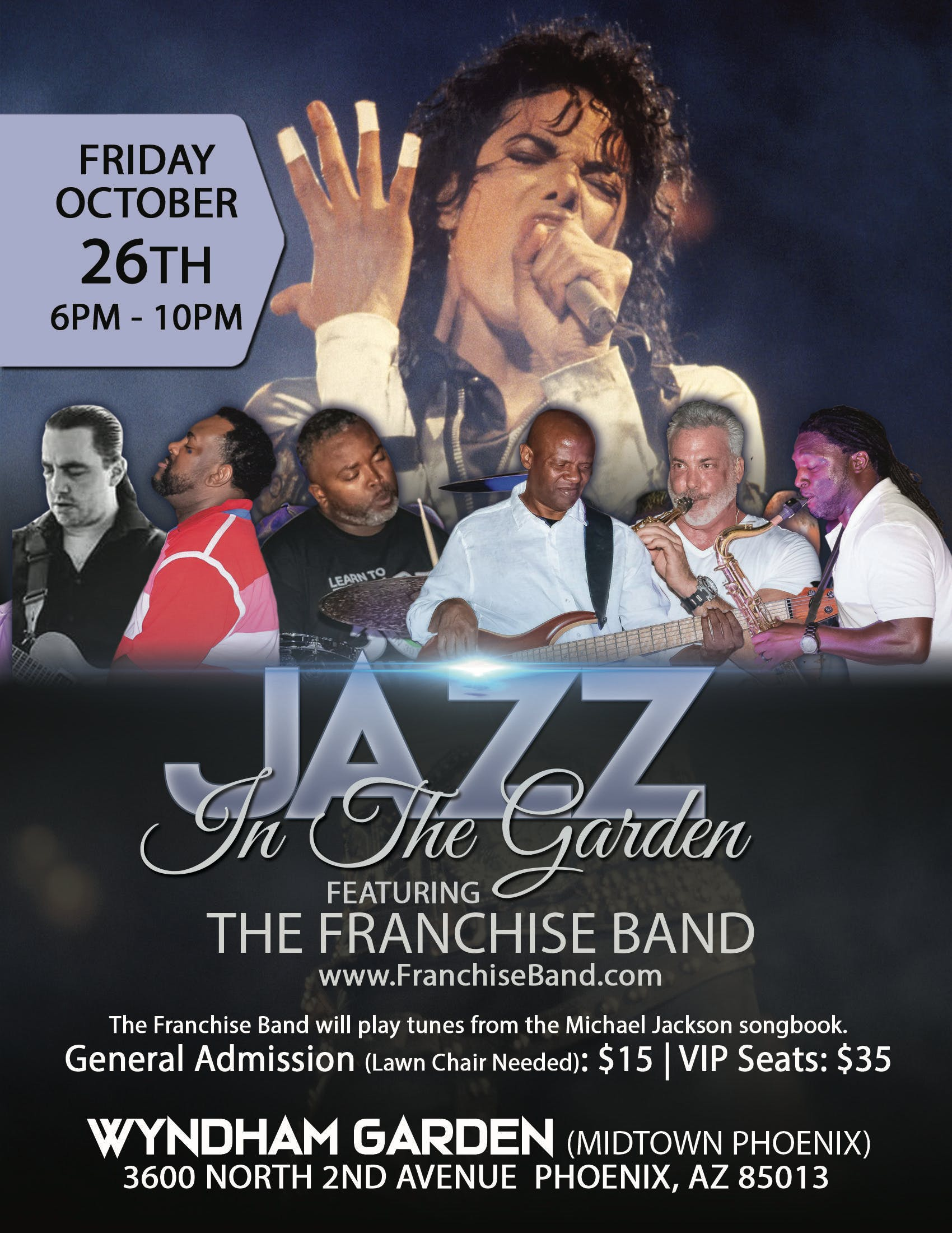 Jazz in the Garden:  The Franchise Band Plays the Michael Jackson Songbook