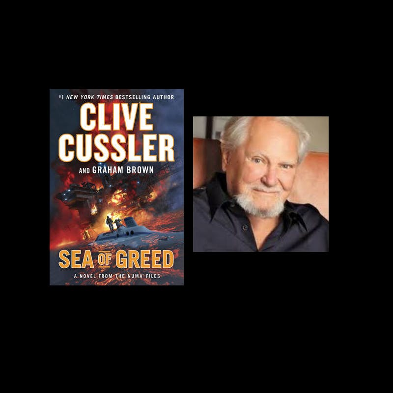 Clive Cussler signs SEA OF GREED at his Scottsdale Car Collection!