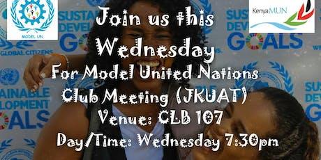 Model United Nations Club Meeting (JKUAT) tickets