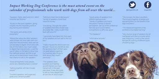 IMPACT Working Dog Conference 2019