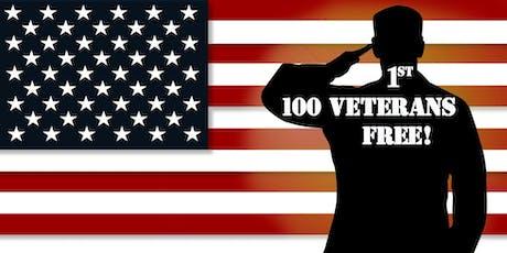 1st 100 Veterans FREE!  October12th, 2019 tickets