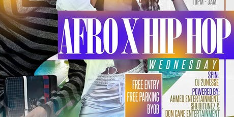 AFRO X HIP HOP||ATLANTA's #1 WEDNESDAY SPOT||Infusion Hookah  tickets