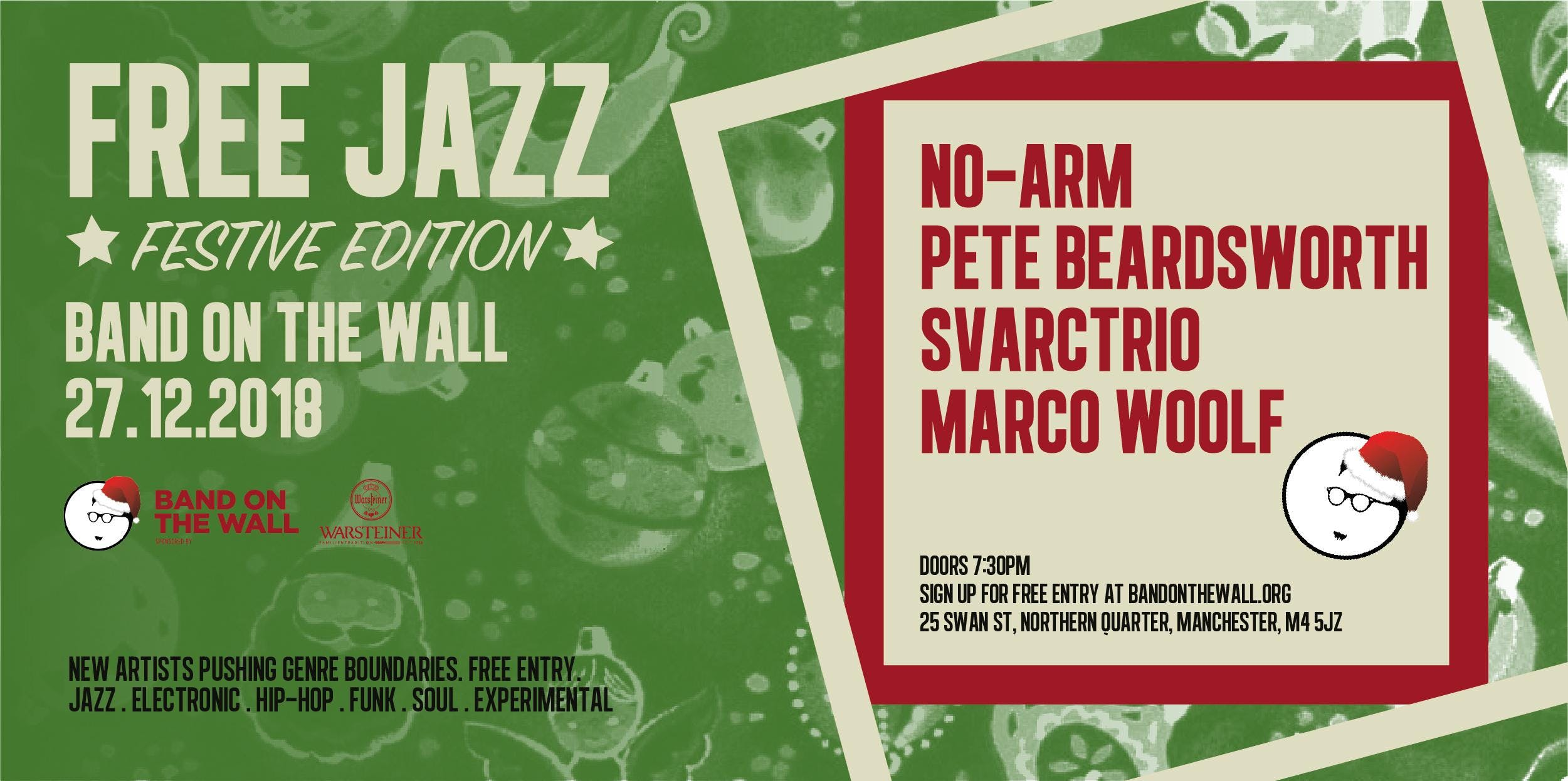 Free Festive Jazz: No-Arm, Pete Beardsworth,