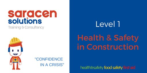 Health & Safety in Construction Lvl1 CSCS Cards