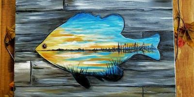 Paint Night-Sunset Fish