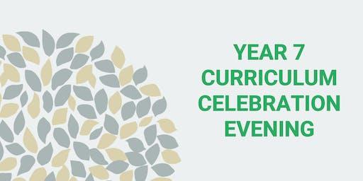 Year 7 Curriculum Celebration Evening 2019 (19:00-20:30)
