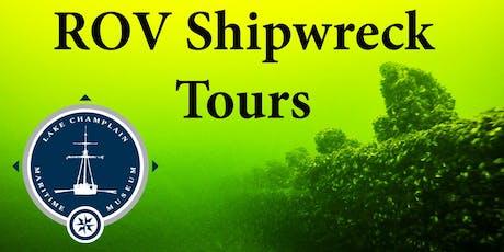 ROV Shipwreck Tour, Sunday September 8th, 2019, 1 pm tickets