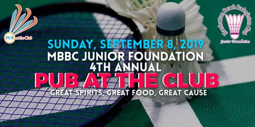 PUB AT THE CLUB 4th Annual Benefit for MBBC Junior Foundation Programs