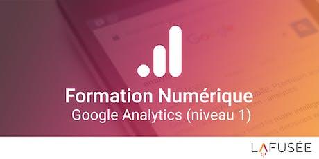 Formation Google Analytics (Niveau 1) - 1 journée billets