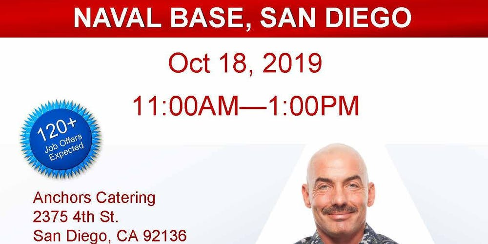 Navy Base San Diego Veteran Job Fair Oct 2019