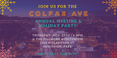 Colfax Ave 2018 Annual Meeting & Holiday Party