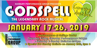 Sudbury Performance Group - Godspell - January 25