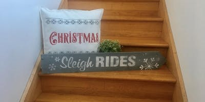 Stencilled Christmas Cushion & Sign class