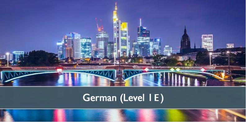 German (Level 1E) - January 2019