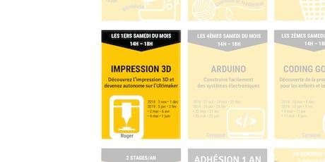 Initiation à l'impression 3D billets